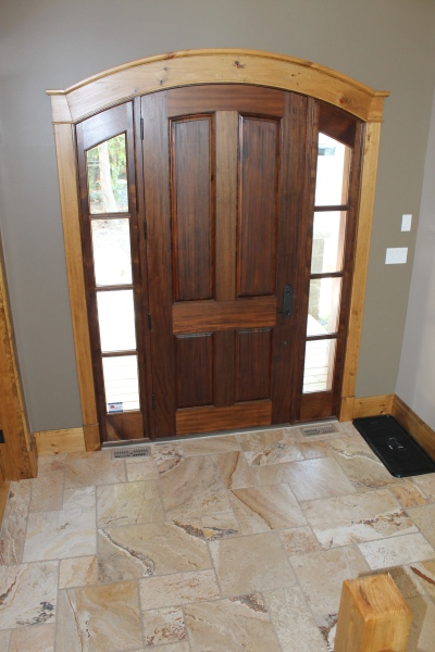 Door with sidelights, custom home Collingwood, Blue Mountains