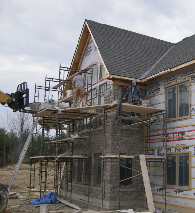 Custom home masonry Lora Bay