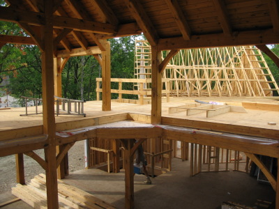 Timber frame home construction Collingwood, Blue Mountains